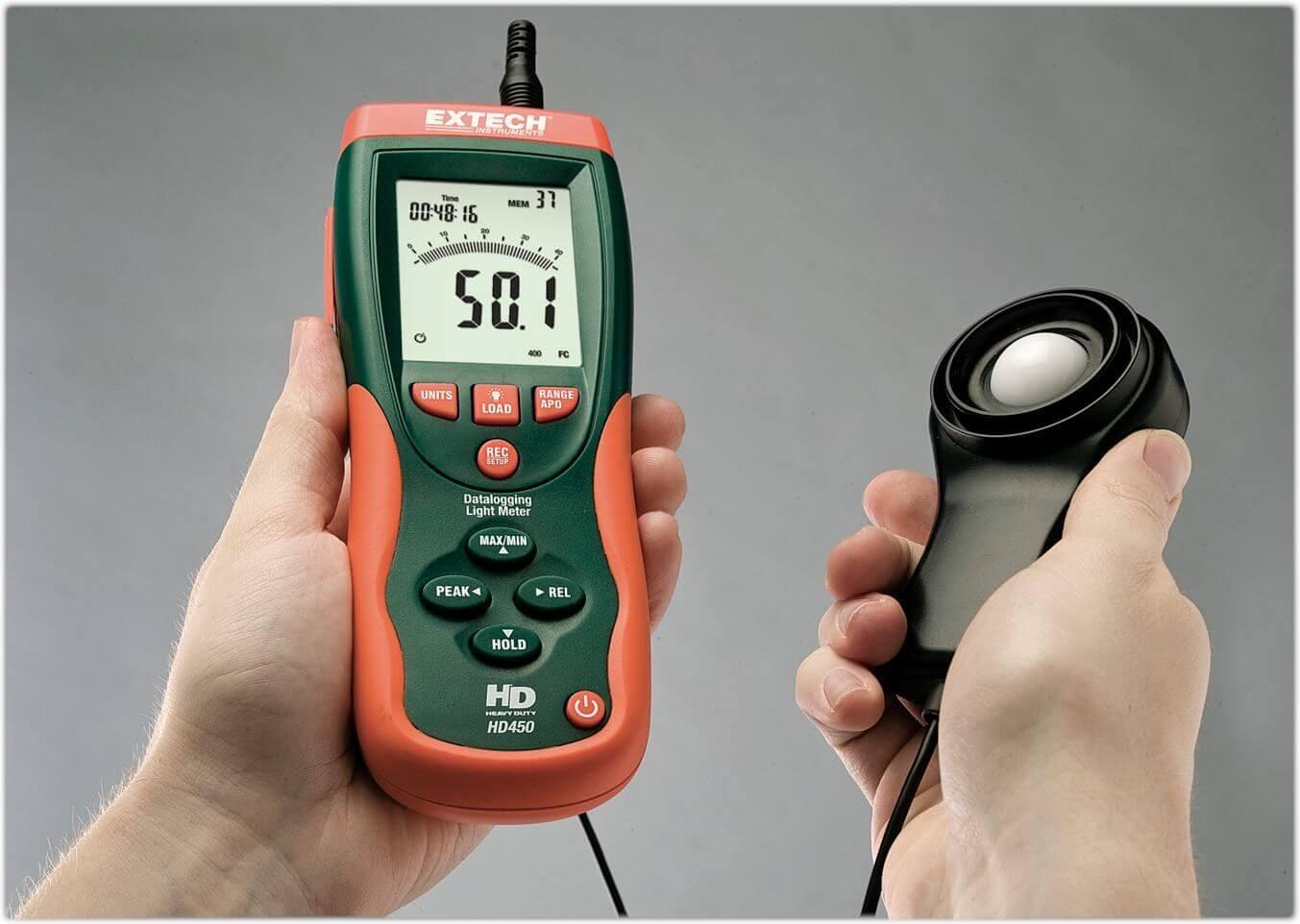 Cách sử dụng máy đo cường độ ánh sáng