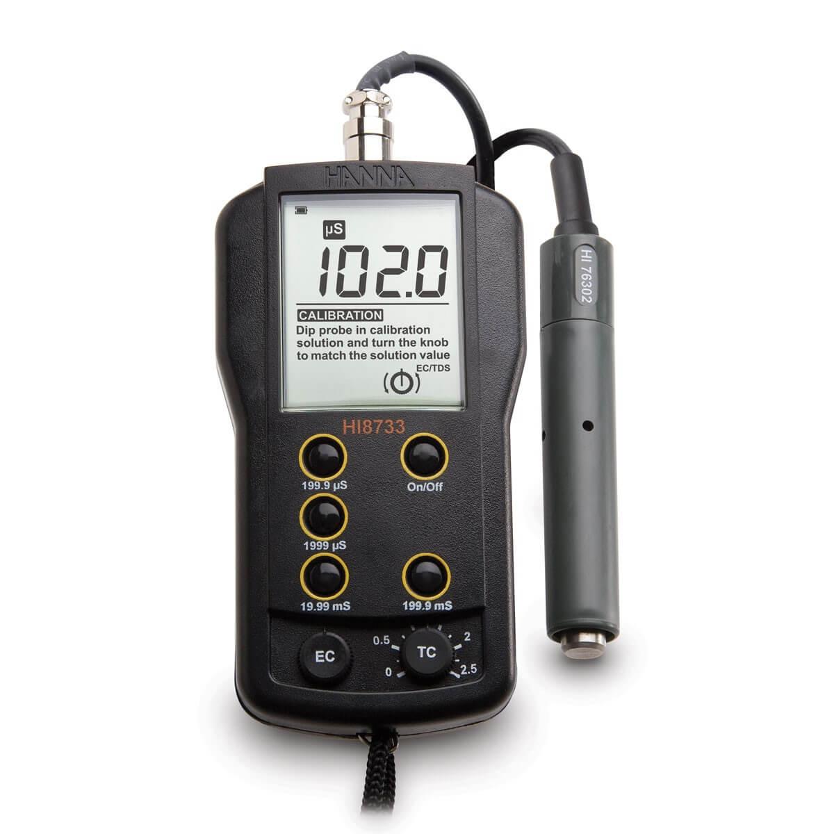 Cấu tạo của máy đo độ dẫn điện