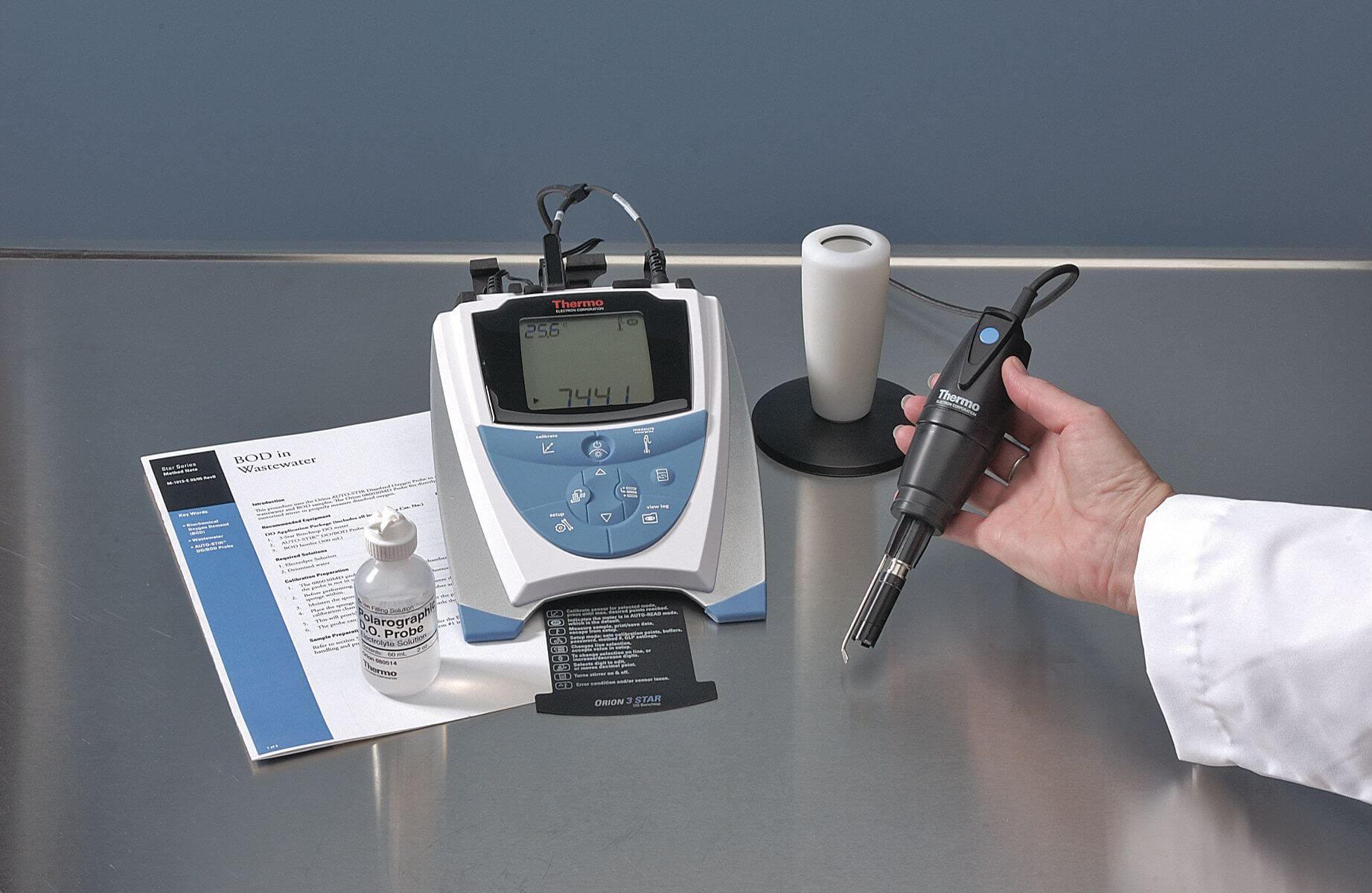 Nguyên lý hoạt động của máy đo oxy hòa tan