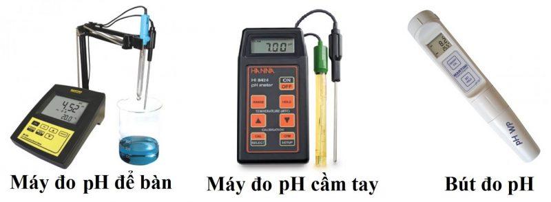 Phân loại máy đo pH nước