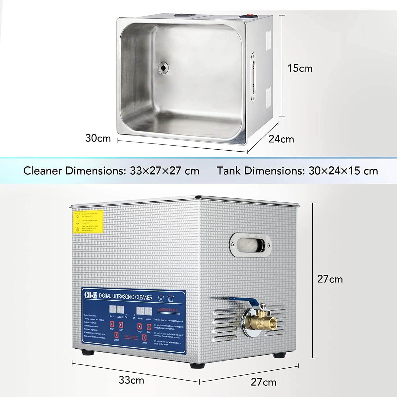 Thông số kỹ thuật của bể rửa siêu âm